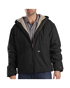 8.5 oz. Sanded Duck Sherpa Lined Hooded Jacket
