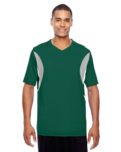 Men's Short-Sleeve Athletic V-Neck Al`Sport Jersey