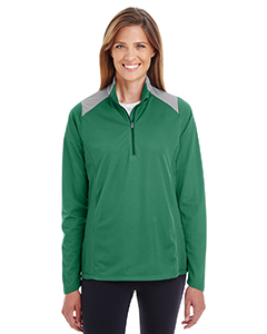 Ladies\' Command Colorblock Snag-Protection Quarter-Zip