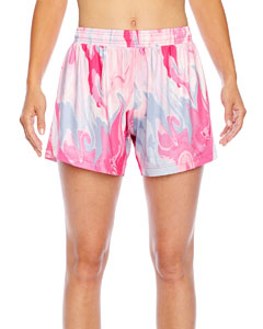 Ladies Al`Sport Sublimated Pink Swir`Short