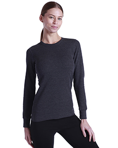 Ladies' Long-Sleeve Thermal Crewneck