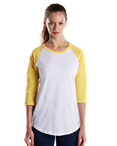Ladies' 3/4-Sleeve Baseball Raglan
