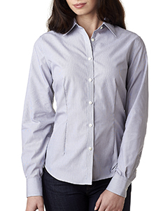 Ladies' Long-Sleeve Non-Iron Feather Stripe
