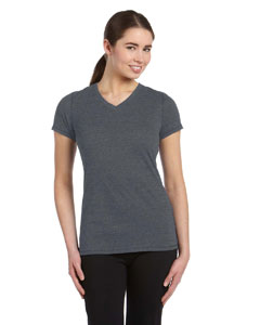 Ladies Performance Triblend Short-Sleeve V-Neck T-Shirt