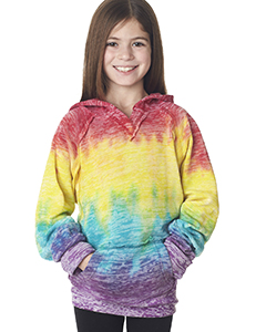 Girls' Courtney Burnout V-Notch Hooded Fleece