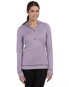 Ladies  4.3 oz. Long-Sleeve Half-Zip Hoodie