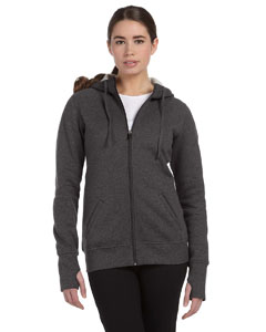 Ladies Performance Fleece FulmZip Hoodie with Runner's Thumb