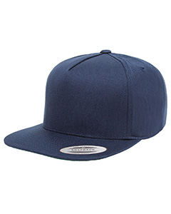 Adult 5-Panel Cotton Twill Snapback Cap