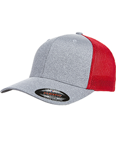 Adult Poly Melange Stretch Mesh Cap