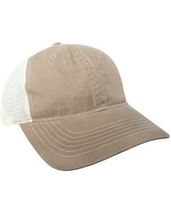 Two Tone Bio Washed Mesh Back Cap